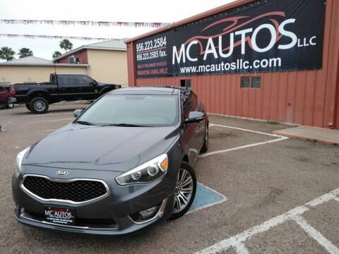 2014 Kia Cadenza for sale at MC Autos LLC in Pharr TX