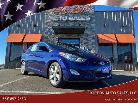 2012 Hyundai Elantra for sale at HORTON AUTO SALES, LLC in Linn MO