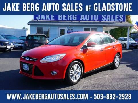 2012 Ford Focus for sale at Jake Berg Auto Sales in Gladstone OR