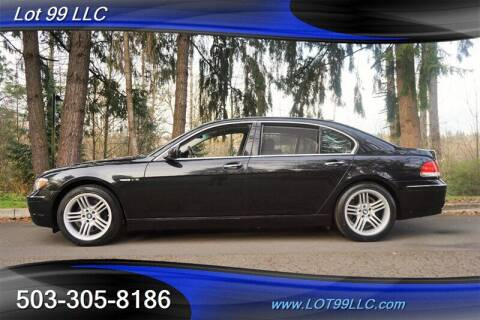 2007 BMW 7 Series for sale at LOT 99 LLC in Milwaukie OR