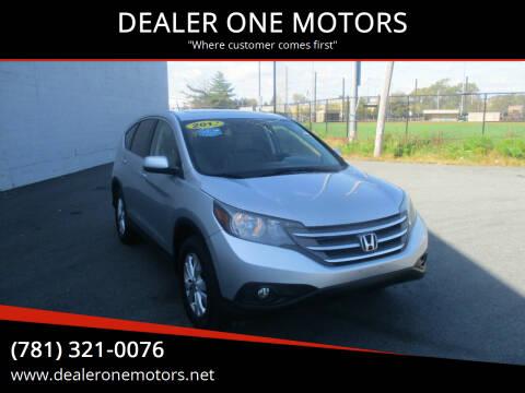 2012 Honda CR-V for sale at DEALER ONE MOTORS in Malden MA
