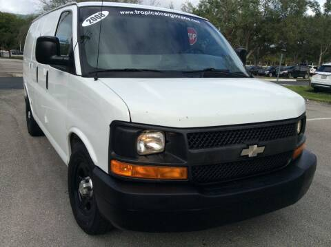 2008 Chevrolet Express Cargo for sale at Tropical Motors Cargo Vans and Car Sales Inc. in Pompano Beach FL