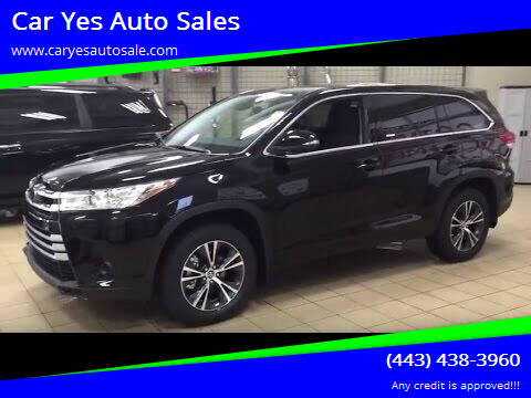 2017 Toyota Highlander for sale at Car Yes Auto Sales in Baltimore MD