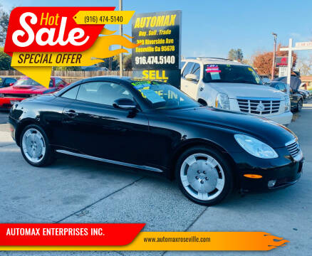2003 Lexus SC 430 for sale at AUTOMAX ENTERPRISES INC. in Roseville CA