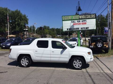 2008 Honda Ridgeline for sale at Giguere Auto Wholesalers in Tilton NH