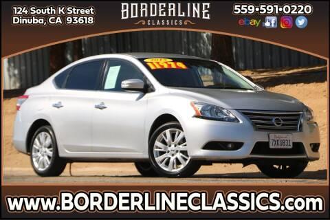 2015 Nissan Sentra for sale at Borderline Classics in Dinuba CA