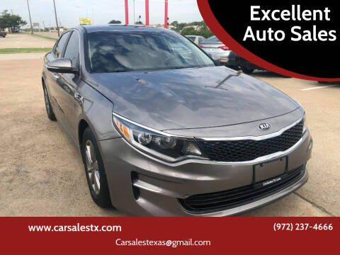 2016 Kia Optima for sale at Excellent Auto Sales in Grand Prairie TX