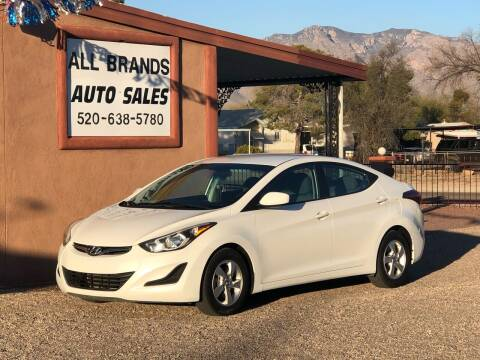 2014 Hyundai Elantra for sale at All Brands Auto Sales in Tucson AZ