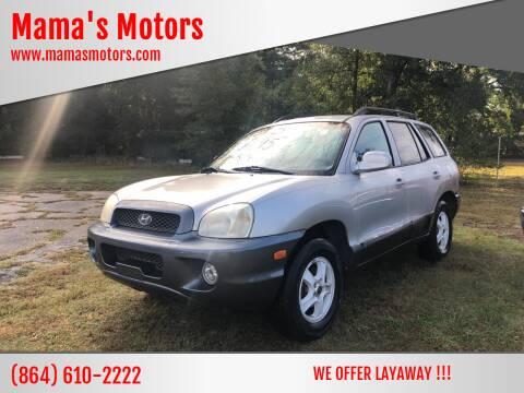 2003 Hyundai Santa Fe for sale at Mama's Motors in Greer SC