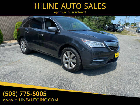 2015 Acura MDX for sale at HILINE AUTO SALES in Hyannis MA