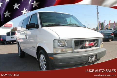 2000 GMC Safari Cargo for sale at Luxe Auto Sales in Modesto CA