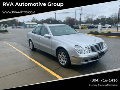 2004 Mercedes-Benz E-Class for sale at RVA Automotive Group in North Chesterfield VA