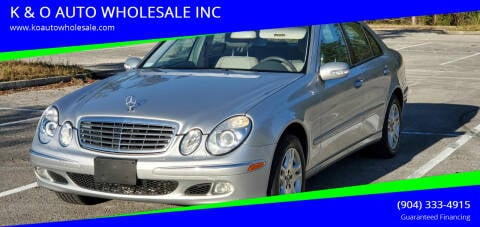 2004 Mercedes-Benz E-Class for sale at K & O AUTO WHOLESALE INC in Jacksonville FL