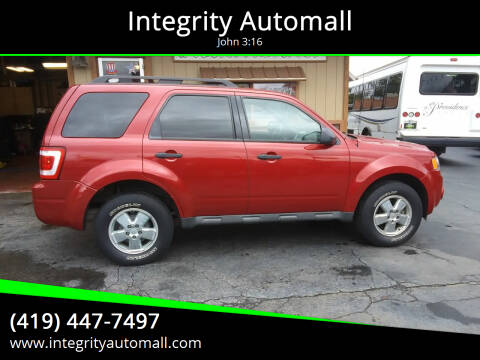 2010 Ford Escape for sale at Integrity Automall in Tiffin OH