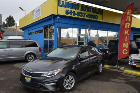 2019 Kia Optima for sale at Earnest Auto Sales in Roseburg OR