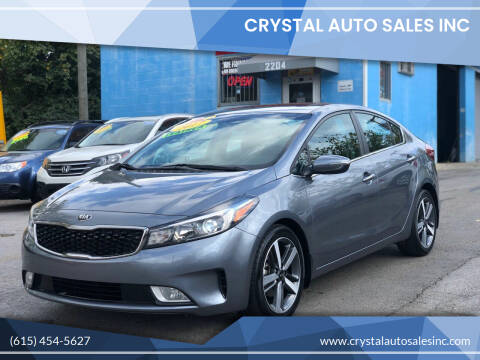 2017 Kia Forte for sale at Crystal Auto Sales Inc in Nashville TN