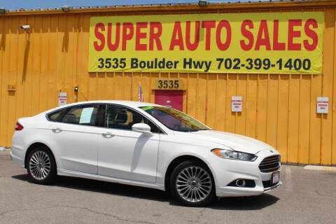 2014 Ford Fusion for sale at Super Auto Sales in Las Vegas NV