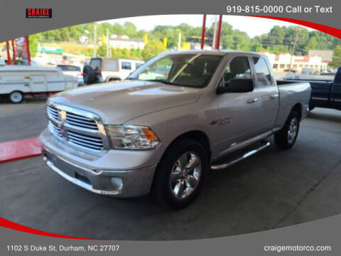 2016 RAM Ram Pickup 1500 for sale at CRAIGE MOTOR CO in Durham NC