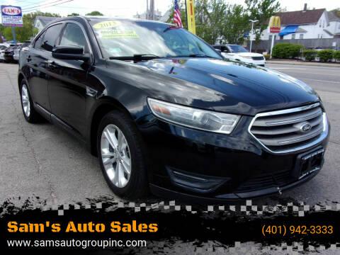 2013 Ford Taurus for sale at Sam's Auto Sales in Cranston RI