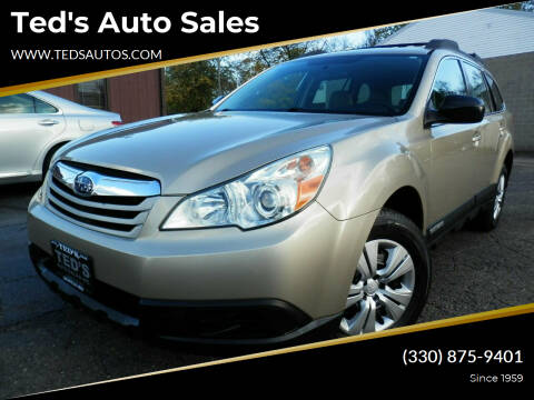 2010 Subaru Outback for sale at Ted's Auto Sales in Louisville OH