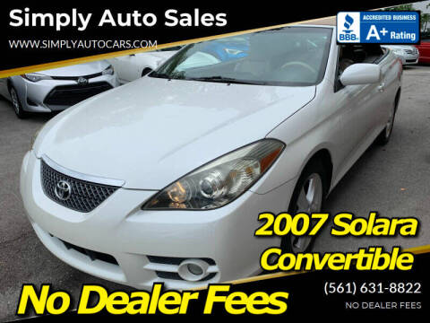 2007 Toyota Camry Solara for sale at Simply Auto Sales in Palm Beach Gardens FL