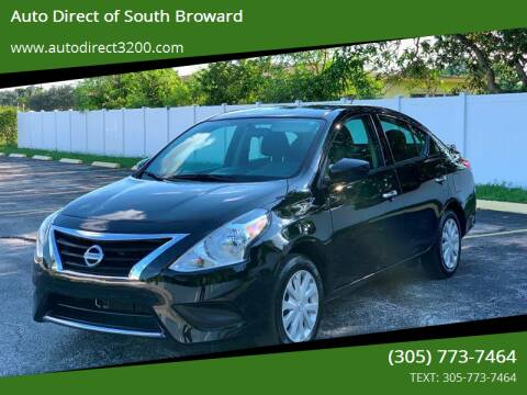2017 Nissan Versa for sale at Auto Direct of South Broward in Miramar FL