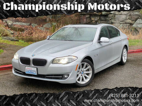 2013 BMW 5 Series for sale at Championship Motors in Redmond WA