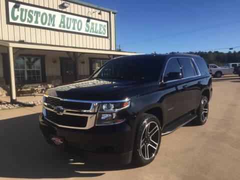 2018 Chevrolet Tahoe for sale at Custom Auto Sales - AUTOS in Longview TX