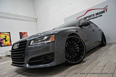 2017 Audi S8 plus for sale at AUTO IMPORTS MIAMI in Fort Lauderdale FL