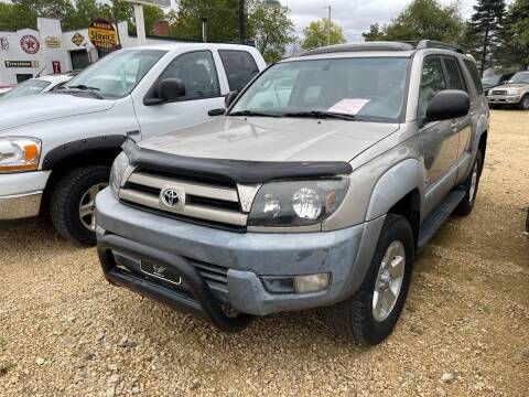 2003 Toyota 4Runner for sale at Nelson's Straightline Auto - 23923 Burrows Rd in Independence WI