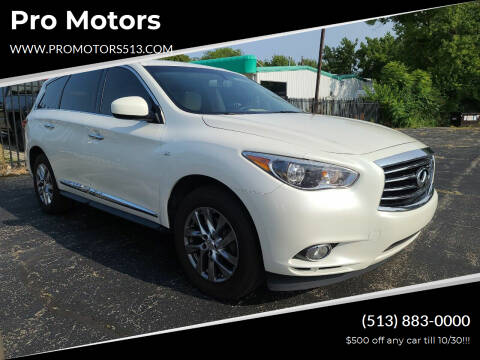 2015 Infiniti QX60 for sale at Pro Motors in Fairfield OH