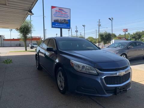 2014 Chevrolet Malibu for sale at Magic Auto Sales - Cars for Cash in Dallas TX