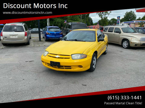 2003 Chevrolet Cavalier for sale at Discount Motors Inc in Nashville TN