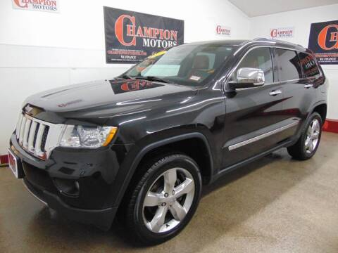 2012 Jeep Grand Cherokee for sale at Champion Motors in Amherst NH