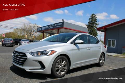 2017 Hyundai Elantra for sale at Deals N Wheels 306 in Burlington NJ