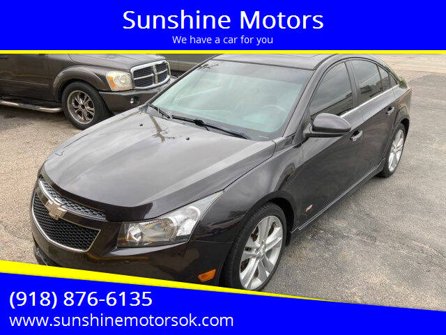 2014 Chevrolet Cruze for sale at Sunshine Motors in Bartlesville OK