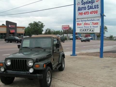1997 Jeep Wrangler for sale at Springs Auto Sales in Colorado Springs CO