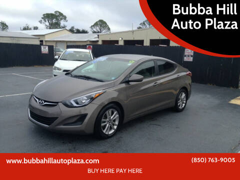 2014 Hyundai Elantra for sale at Bubba Hill Auto Plaza in Panama City FL