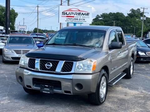 2006 Nissan Titan for sale at Supreme Auto Sales in Chesapeake VA