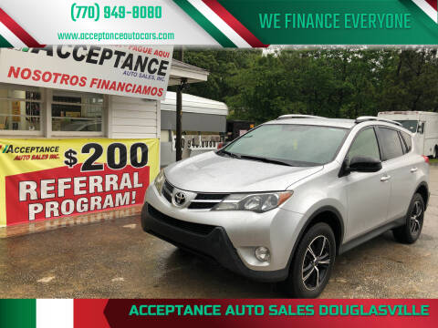 2015 Toyota RAV4 for sale at Acceptance Auto Sales Douglasville in Douglasville GA