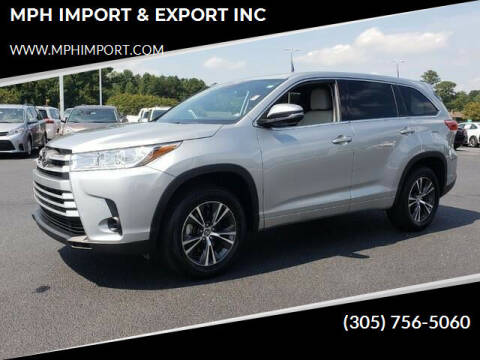 2018 Toyota Highlander for sale at MPH IMPORT & EXPORT INC in Miami FL