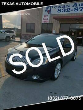 2013 Buick Verano for sale at TEXAS AUTOMOBILE in Houston TX