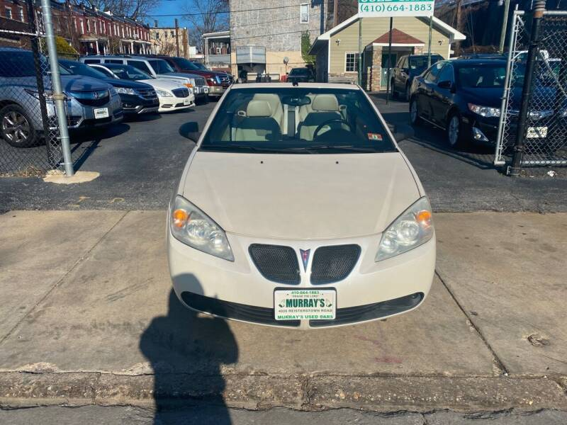 2009 Pontiac G6 for sale at Murrays Used Cars in Baltimore MD