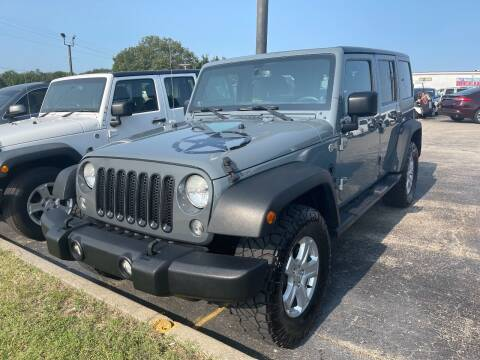 2014 Jeep Wrangler Unlimited for sale at Greg's Auto Sales in Poplar Bluff MO
