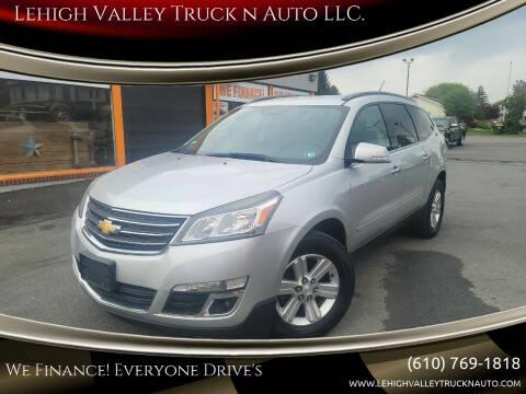 2014 Chevrolet Traverse for sale at Lehigh Valley Truck n Auto LLC. in Schnecksville PA