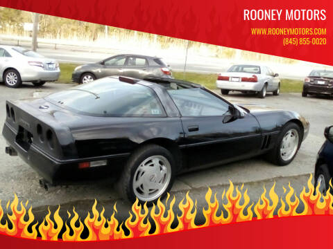 1989 Chevrolet Corvette for sale at Rooney Motors in Pawling NY