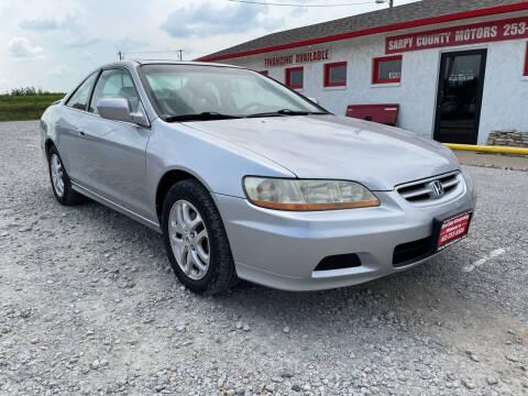 2002 Honda Accord for sale at Sarpy County Motors in Springfield NE