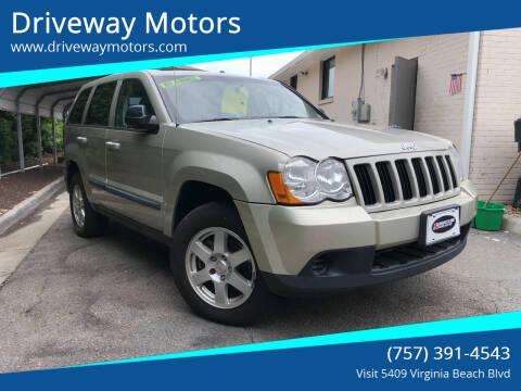 2009 Jeep Grand Cherokee for sale at Driveway Motors in Virginia Beach VA