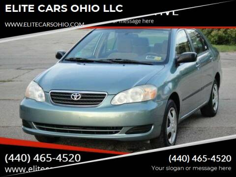 2005 Toyota Corolla for sale at ELITE CARS OHIO LLC in Solon OH