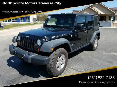 2010 Jeep Wrangler Unlimited for sale at Northpointe Motors in Kalkaska MI